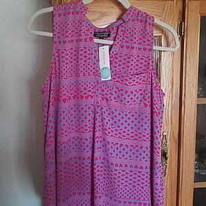 Papermoon (stitch fix) sleeveless blouse xl
